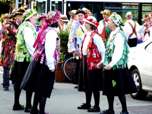 Morris dancers - working as a team - superb.