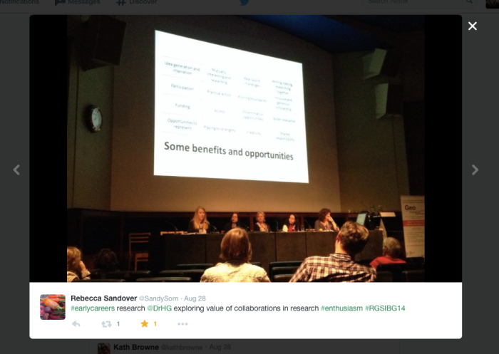 Early-Career Plenary Panel at the RGS-IBG 2014